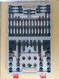"""연장통에 있는 장비를 죄는 5/8 """" - 11-11/16 """" 호화로운 강철 높은 경도 58PCS"""
