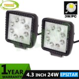 트럭을%s 4.3inch 24W Epistar IP67 LED 일 빛
