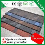 Material para techos de acero revestido de la piedra de China de la alta calidad, ripia, azulejos de material para techos revestidos del metal del cinc de la piedra colorida de aluminio de la placa
