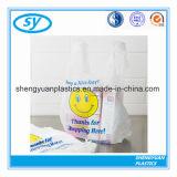 多色刷りの印刷されたプラスチックTシャツのショッピング・バッグ