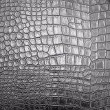 Cuoio d'imitazione dell'unità di elaborazione impresso il nero, cuoio strutturato dell'unità di elaborazione dello Synthetic