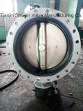 di Disc와 가진 탄력있는 시트 두 배 플랜지 나비 벨브
