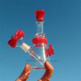 Il tubo di vetro di vetro all'ingrosso dei tubi di acqua della Cina di nuovo disegno con Perc ha colori della miscela