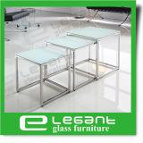 Tavolino da salotto bianco del MDF di lucentezza del Kagawa alto con i piedini di vetro Tempered