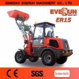 Cargador hidráulico 2017 de la rueda del mini cargador aprobado 1500kg del Ce de Everun pequeño