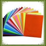 Feuilles colorées de vinyle de transfert thermique du transfert thermique Vinyl/PU d'unité centrale de coût bas