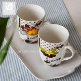 Liling 커피잔 /14oz 12oz 10oz를 인쇄하는 백색 사기그릇 우유 찻잔 또는 전사술