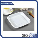 Плита квадрата подноса пластичной плиты устранимая для еды