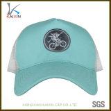 女性のためのカスタム淡いブルーの刺繍5のパネルの野球のトラック運転手の帽子