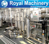 El tratamiento de la planta de embotellado de agua mineral.