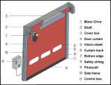 Porta rápida do obturador do rolo da cortina macia para a indústria do alimento e da medicina (ZY216)