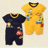 2014 Nouvelle mode Vêtements de bébé forme de bouton à manches courtes bébé Romper Bébé d'usure