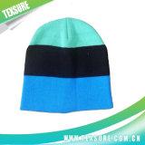 Beanie шлема зимы жаккарда акриловый Unisex обыкновенный толком связанный (027)
