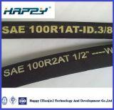 Tuyau en caoutchouc hydraulique tressé du fil d'acier R1 de DN 3/8 «