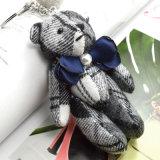 Anello chiave del nastro della Simulare-Perla dell'orso sveglio Handmade del fiore