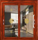 Тепловой вырваться из алюминия в горизонтальном положении стекла боковой сдвижной двери с алюминиевой рамкой