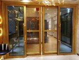 Doble acristalamiento pesada puerta corrediza de aluminio (BHA-DS11).