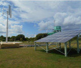 De Verticale Turbogenerator van Vawt met Zonnepanelen als Nieuwe Keus van de Energie