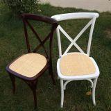 Estilo Francês de alta qualidade Cruz de madeira Cadeira de volta para o evento