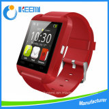 2016 Heet verkoop het Scherm U8 Smartwatch van de Aanraking met Antwoord en draai de Meter van de Hoogte van de Foto van Bluetooth van de Telefoon