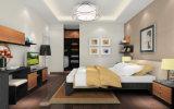 ホテルのプロジェクト(zy-033)のための新しい木のメラミン寝室のワードローブの戸棚