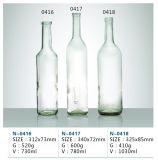 Frascos de vidro de vinho, frasco de vidro transparente para o vodka