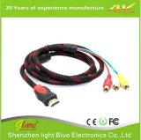 HDMI ao adaptador de conversor de cabo RCA para HDTV DVD