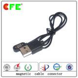 Connecteur de câble de charge magnétique à 2 broches magnétique rectangulaire