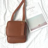 Saco de couro do plutônio da forma simples popular do saco de Crossbody das mulheres do estilo mini