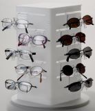 Personnaliser les lunettes de soleil acryliques transparentes Display Stand Eyewear Display Stand