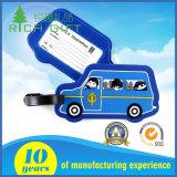 Tag personalizado da bagagem do PVC da forma do caminhão na cor azul