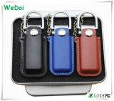 Negócios promocionais de couro Memory Stick USB com baixo custo (WY-L06)