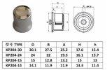 De Knop GLB van het Aluminium van de precisie voor Potentiometer