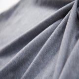 T-shirt com contas de cinza de senhoras T-shirt com strass Stringy Selvedge Collar