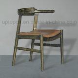 Presidenza di legno classica della mobilia del ristorante della struttura con la tappezzeria di cuoio dell'unità di elaborazione (SP-EC648)