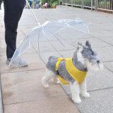 De transparante Waterdichte MiniParaplu van de Hond van het Huisdier met Leiband