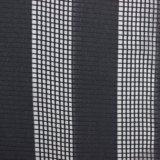 白くおよび黒い縞少し格子パターン方法ファブリック