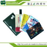 USB di plastica della carta di credito dell'azionamento di stampa di natale di colore completo