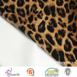 Tessuto eccellente della lavata della sabbia della stampa del leopardo per il vestito