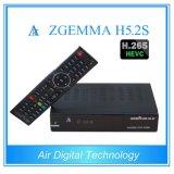 Air Digital Receptor de Satélite Novo Zgemma H5.2s Alto CPU Linux OS Enigma2 DVB-S2 + S2 Twin Sintonizadores com H. 265 / Hevc