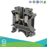 Bloque terminal de tornillo Dinrail UK6n Jut1-6 Conector de cableado eléctrico