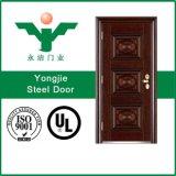 Puerta del metal para el precio de acero de la puerta de la sola puerta del apartamento