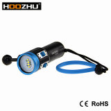 Hoozhu V13 2600 máximos Lm impermeabiliza la antorcha de la zambullida del 100m con la luz de cinco colores para el vídeo del salto