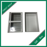 Janela de PVC transparente de cor branca caixa de oferta