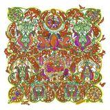 Lenço de seda impresso Digitas bonito (F13-0006)