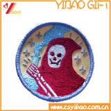 O algodão 100% bordou correções de programa com fita mágica para trás (YB-e-039)