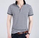 Polo personnalisé à la mode pour hommes à rayures teintées