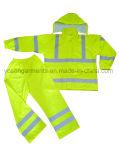 PU 100% водоустойчивое Rainsuit с одеянием высокой безопасности лент видимости отражательной защитным