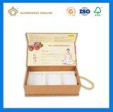 Caja de embalaje de papel rígida de la maneta para los productos del cuidado personal (con la bandeja del blistre)