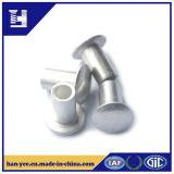 Rebite de alumínio da cabeça da bandeja da extremidade da cavidade do revestimento niquelar